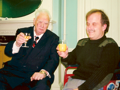 Gordon and Sir Patrick Moore