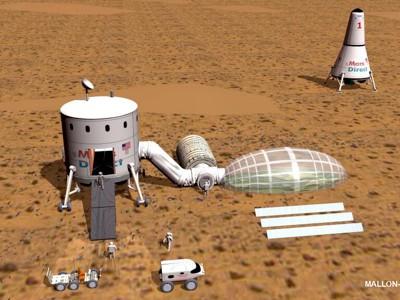 Artist's impression: Mars Direct