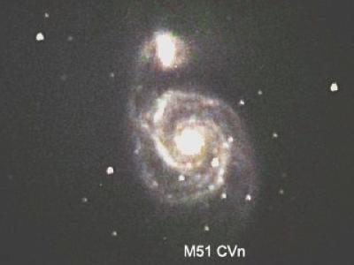 M51 - photo taken by Ed Zanders